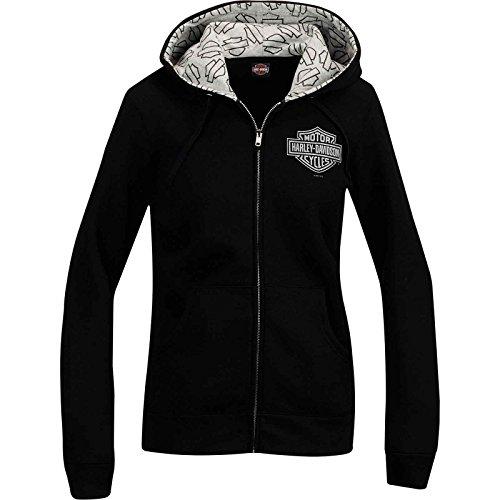Harley-Davidson Women's Zip Hoodie - Shimmer Logo | Overseas Tour (Harley Hoodie)