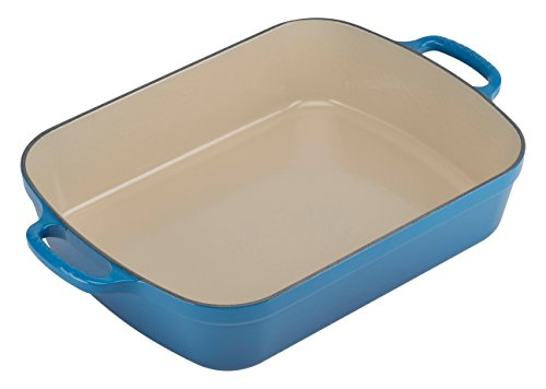 Le Creuset Signature Cast Iron Rectangular Roaster, 5.25-Quart, (Le Creuset Rectangular Pan)