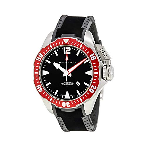 H77805335 Mens Khaki Navy Frogman Automatic Mens Watch
