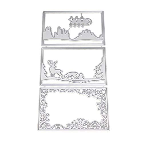 (Cutting Dies, LOVOZO Embossing Cutting Dies Tool Stencil Template Mold Paper Card)
