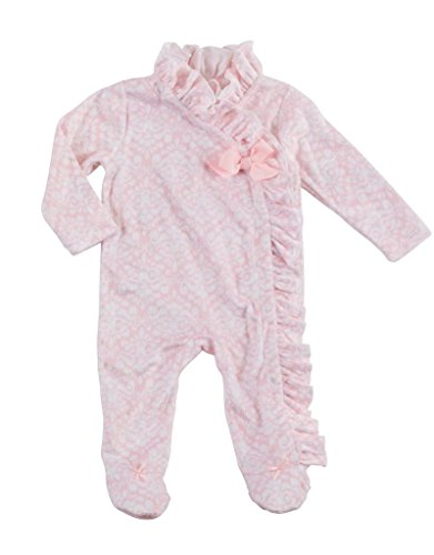 - Mud Pie Holiday Pretty in Pink Baby Girl Pink Ruffle Kimono Sleeper 1132208 (6-9 Months)