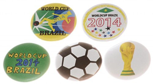 A&T Designs Unisex Set 5 World Cup 2014 Brazil 1.25