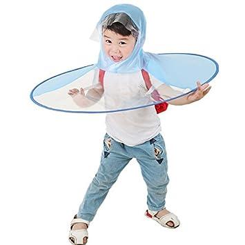 Creative umbrella-nacola Kawaii Cute UFO impermeable manos libres paraguas sombrero Headwear Cap impermeable para