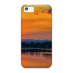 Durable Protector Case Cover With Beautuful Sunset Hot Design For Iphone 5c