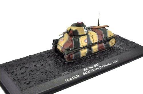 Deagostini 1:72 Diecast Model Tank - Somua S35 1ere DLM Saint-Ouen France - 1940 #52