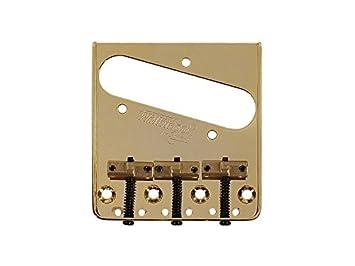 Puente de Londres Wilkinson guitarra eléctrica tipo telecaster chrome-g b-wtb dorado: Amazon.es: Instrumentos musicales