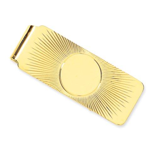 Sunburst Money Clip in 14 Karat Yellow Gold