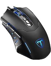 VicTsing Mouse da Gioco con Filo, 7200dpi Gaming Mouse programmabile, 7Pulsanti, 5dpi Regolabili, Colore a Scelta per PC Computer Portatile Gamer Ufficio–Nero