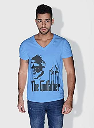 Creo The Godfather Movie Posters T-Shirts For Men - S, Blue
