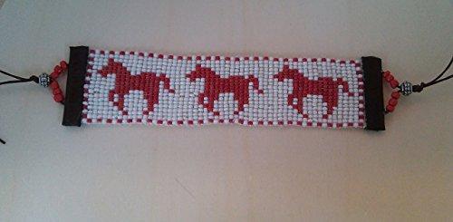Handmade Red Horse Pattern Beaded (J Renee Wrap)