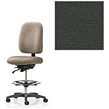 Office Master 24-7 Collection IU77HD Ergonomic Heavy-Duty Chair - No Armrests - Grade 1 Fabric - Spice Pepper Grey 1161 PLUS Free Ergonomics eBook