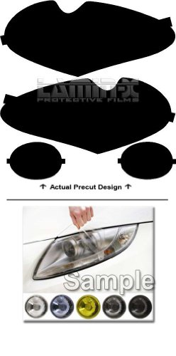 Jaguar XJ (2003, 2004, 2005, 2006, 2007, 2008, 2009) Headlight Film Covers Color: ( YELLOW ) by Lamin-x