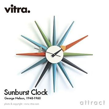 デザイン:George パントン ウォールクロック カラー:ブラック Vitra Sunburst Clock ヴィトラ ジョージ・ネルソン Nelson 【smtb-KD】 サンバーストクロック デザイナー 掛け時計 【RCP】 イームズ Wall Clock