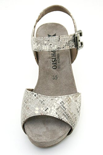 Mephisto Women's Beauty Wedge Sandal Warm Grey kkedNf