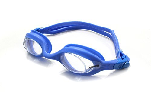 Splaqua Prescription Corrective Optical Swim Goggles - Anti-Fog UV Protection - Best Quality, Stylish, Durable, Goggles Blue Clear - Best Paddles Swimming