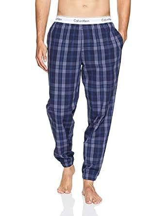 Calvin Klein Men's Modern Cotton Stretch Sleep Jogger, Verona Plaid Shoreline, M