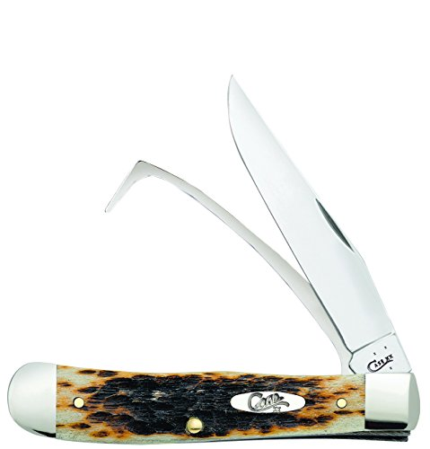 Case Amber Bone Equestrian Pocket Knife