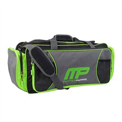 Musclepharm MP Duffel Bag, Once Size Fits All, Black and Green Musclepharm Corp. MPA7SB