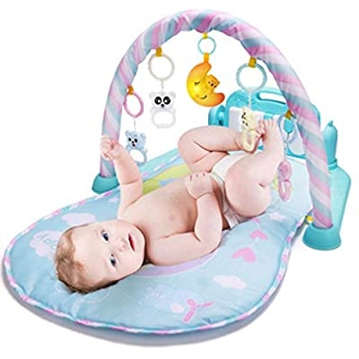 LGRQWER Baby Gym Toys & Activity Play Mat, Infant Kick and Play Toys Electronic Musical Piano Toys,for Infants, Toddlers, Newborn, Girls and Boys Ages 1 to 36 Months: Sports & Outdoors