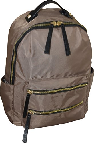"MMS Design Women 15"" Casual Nylon Travel Backpack School Bag (Taupe)"