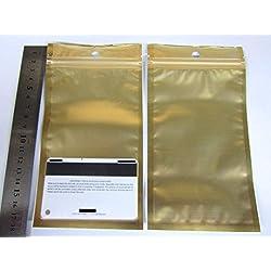 "1500 Gold/Silver 2 Tones Aluminum Foil Mylar 4x6.5"" Ziplock Bag/Clear Front GA-1 US Seller Ship Fast"