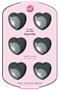 Wilton 6-Cavity Nonstick Heart Mini Cake Pan