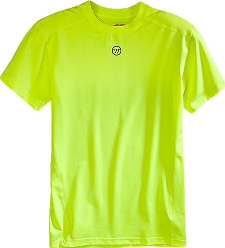 Warrior Men's Short Sleeve Compression Top, Medium, Neon Yellow