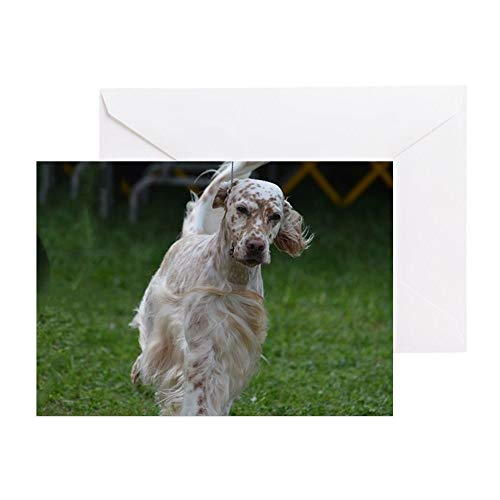 CafePress Adorable English Setter Greeting Card, Note Card, Birthday Card, Blank Inside Matte (English Setter Note Cards)
