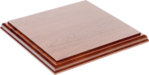 Plymor Brand Solid Walnut Square Wood Display Base with Ogee Edge, .75