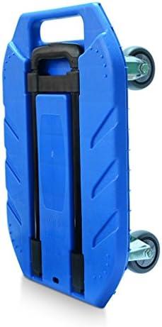 ZQZ ハンドトラック フラットベッドカート 家庭用 ハンドトロリー 積載 ワング トロリー 荷物カート ポータブルトレーラー トラックハンドトラック (#) ブルー ZQ-014