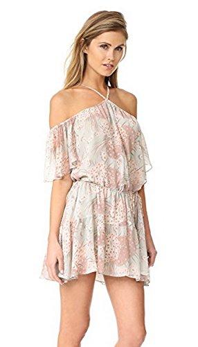 s Silk Chiffon Amira Off Shoulder Dress Mint 280816F (X-Small) ()