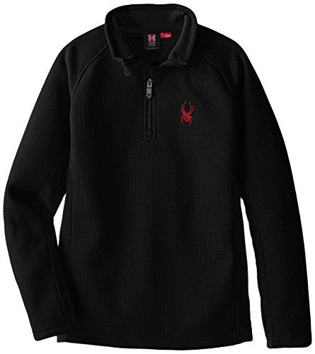 Spyder Core - Spyder Boys Outbound Mid-Weight Core Sweater, Medium, Black/Volcano