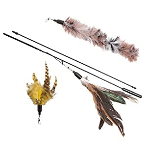The Natural Pet Company Feather Wand Cat Toy (Includes 3x Feather Refills), these Natural Feathers are Guaranteed to Drive Your Cat Wild 61