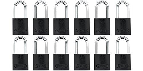 ABUS 72/40 Aluminum Safety Padlock Yellow Keyed Alike - Long Shackle (1-1/2