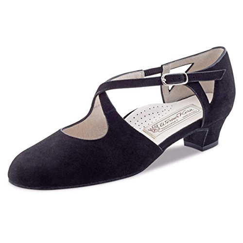 Werner Kern Ladies Dance Shoes Gala 3.5 - Black Suede - 3.5 cm hq4JDD3fc
