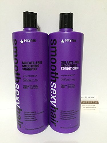 Sexy Hair Smooth Sexy Hair Sulfate Free Smoothing Shampoo and Condtioner Duo Liter