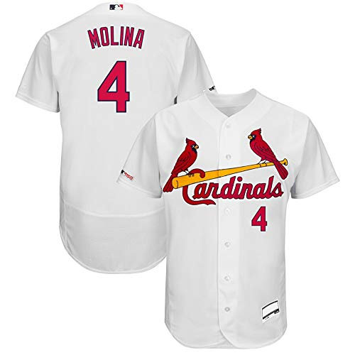 #4 Yadier Molina St. Louis Cardinals Home Flex Base Collection Player Jersey - White XL