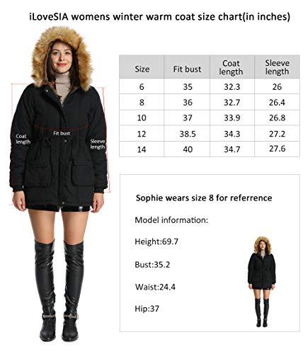 4138832e59c Jual iLoveSIA Womens Hooded Warm Coats Parkas with Faux Fur Jackets ...