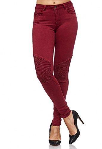 Jeans Biker ArizonaShopping Chiaretto Panel Cucito Stretch Ginocchio Jeans Effetto Vita da D2081 donna HHwqI