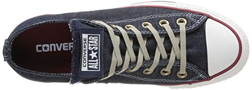 Converse All Star Ox Denim - Zapatos Unisex adulto Azul (Navy/red/egret)