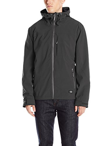 Dickies Men's Performance Waterproof Breathable Jacket with Hood, Black, 2X -