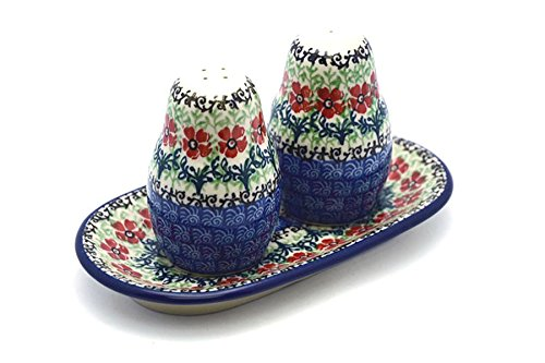 Polish Pottery Salt & Pepper Set - Maraschino