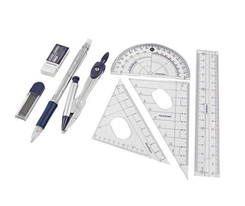8 in 1 Righelli goniometro bussola Eraser portamine e l'insieme della matita di piombo Generic