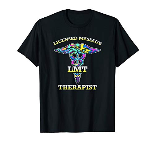 LMT Licensed Massage Therapist Caduceus Gift  T-Shirt (Massage Therapy Shirts)