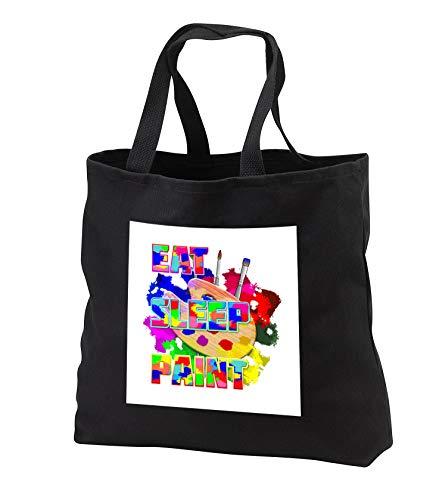 MacDonald Creative Studios - Artist - Eat Sleep Paint, for any painter or artist. - Tote Bags - Black Tote Bag JUMBO 20w x 15h x 5d (tb_295545_3)