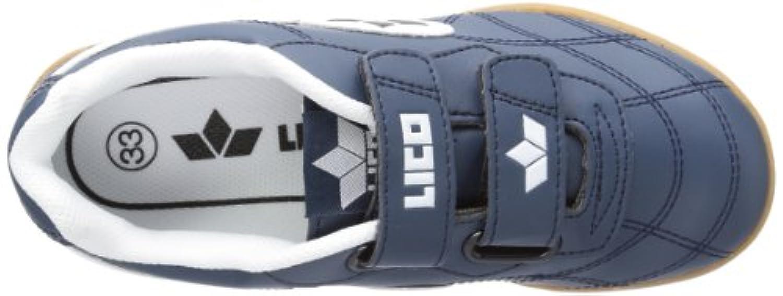 Lico Bernie V,  Unisex Kids Fitness Shoes, Blue (Marine/Weiss),  1 Child UK (33 EU)