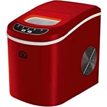 Minute Go Portable 160W Countertop Ice Maker Noise 42DB, Red