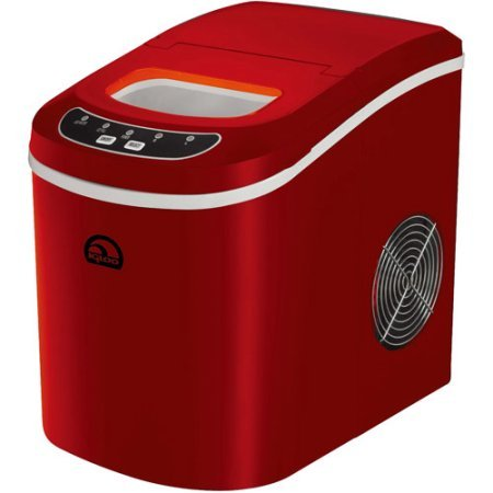 Minute Go Portable 160W Countertop Ice Maker Noise 42DB, Red - Retro Sonic Compressor