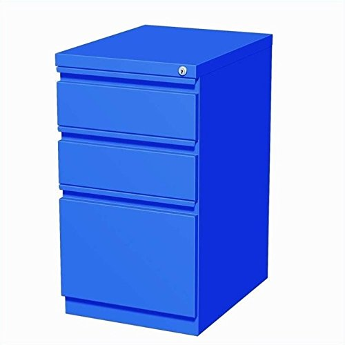 Hirsh Industries 20'' Deep Box-Box-File Mobile Pedestal in Blue by Hirsh Industries