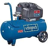 Scheppach Kompressor HC54DC (1800 W, 50 L, 10 bar, Ansaugleistung 322 L/min, ölfrei, Fahrvorrichtung, 96 dB) - zwei Schnellanschlusskupplungen
